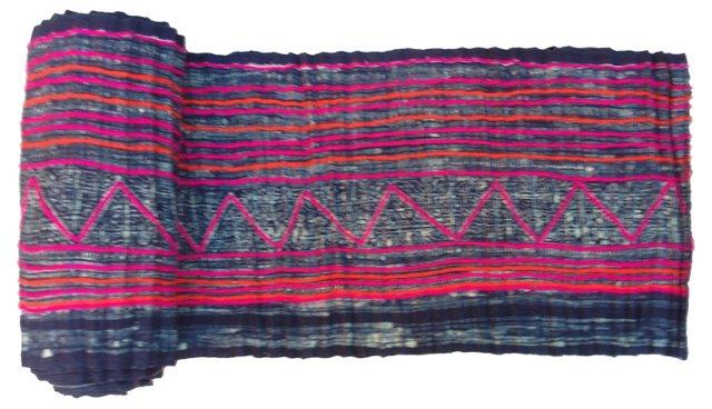 Indigo Batik  Textile, 8.9 Yds