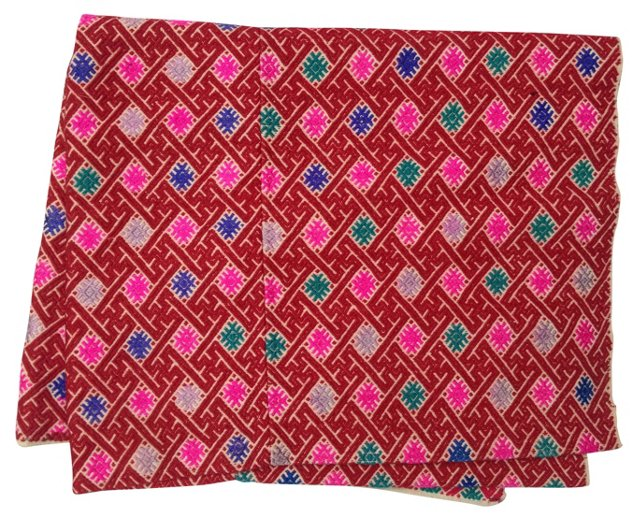 Embroidered Hmong Wedding Quilt
