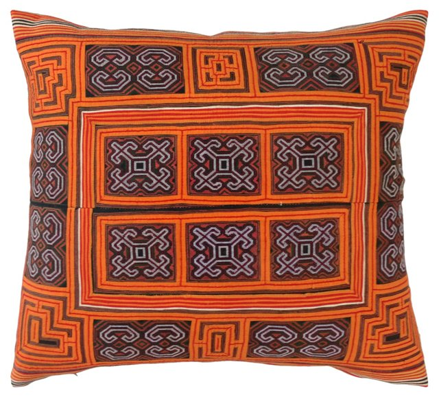 Embroidered & Appliquéd Yao Pillow