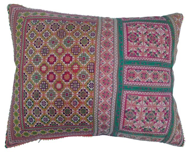Tribal Fragment Pillow