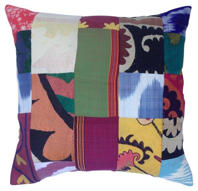 Suzani  Textile  Patchwork Pillow