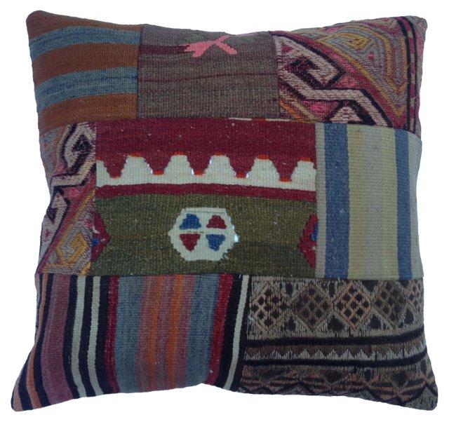 Floor Pillow w/ Turkish Kilim Fragments