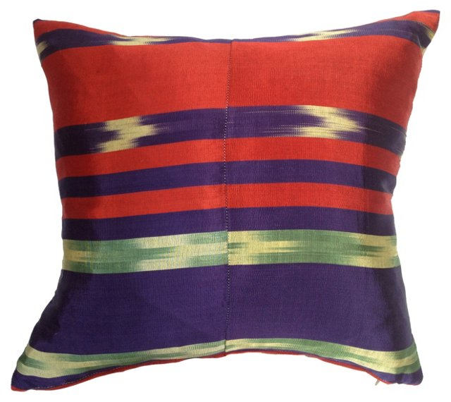 Turkish Silk   Ikat  Pillow