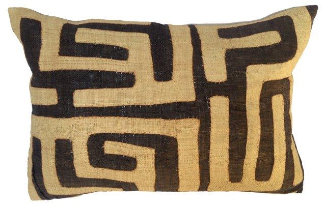 African Raffia  Kuba Pillow