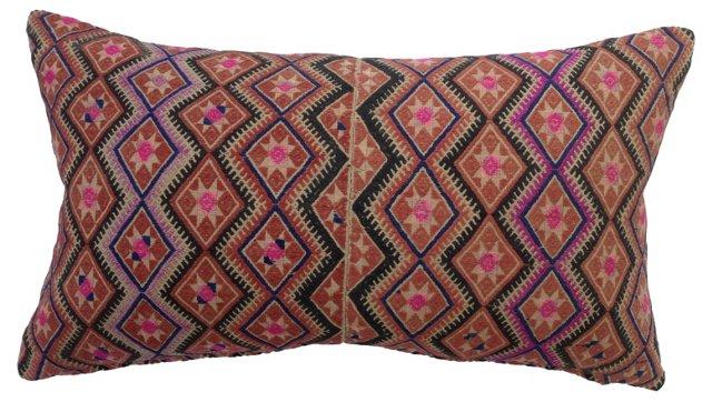 Hmong Tribal Quilt Pillow