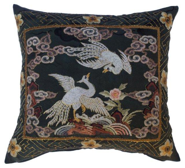 Embroidered Kimono  Fragment Pillow