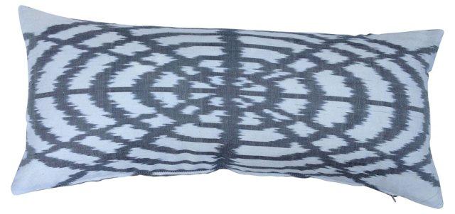Spiderweb  Silk Ikat Pillow