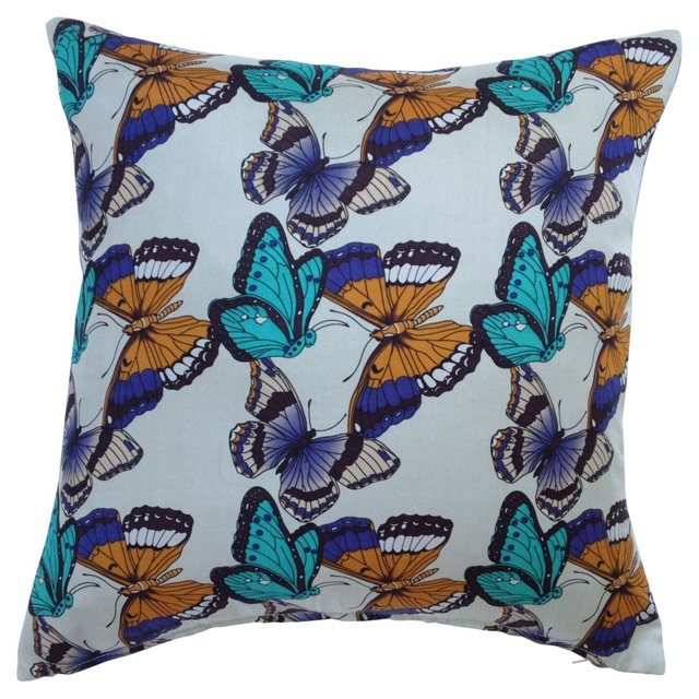 Silk Butterfly   Pillow