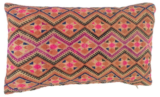 Embroidered Hmong Tribal    Pillow