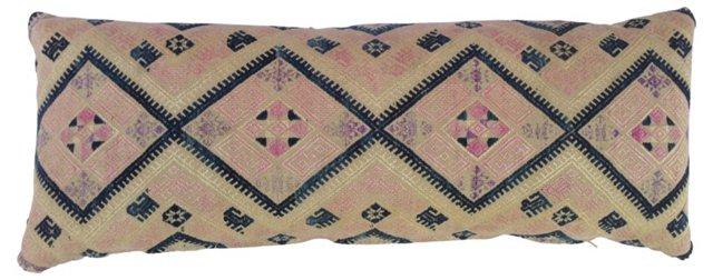 Pink & Blue Wedding Quilt Pillow