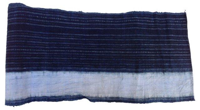 Hand-Blocked Indigo Batik, 2.75 Yds