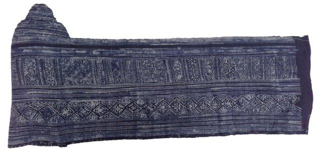 Hand-Blocked Batik Textile, 8.8 Yds