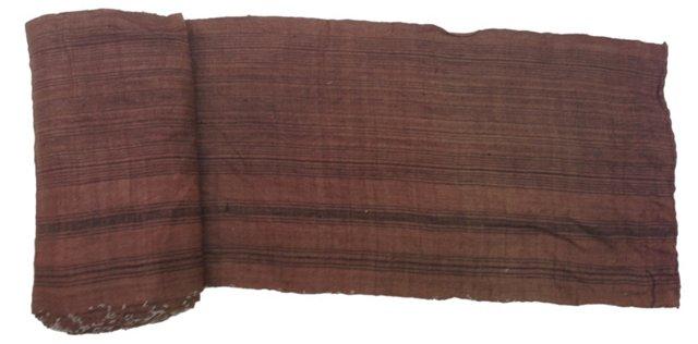 Striped Tobacco Linen, 10.9 Yds