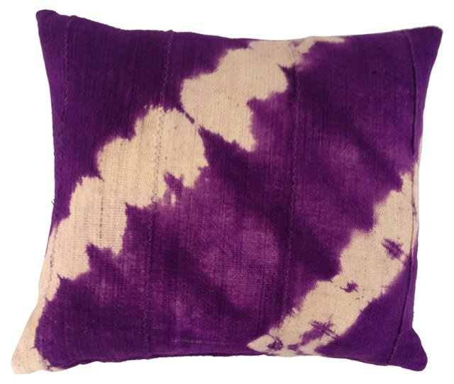 African Tie-Dyed Mud Cloth Pillow
