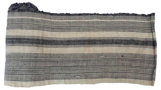 Striped   Natural  Linen, 4.25 Yds
