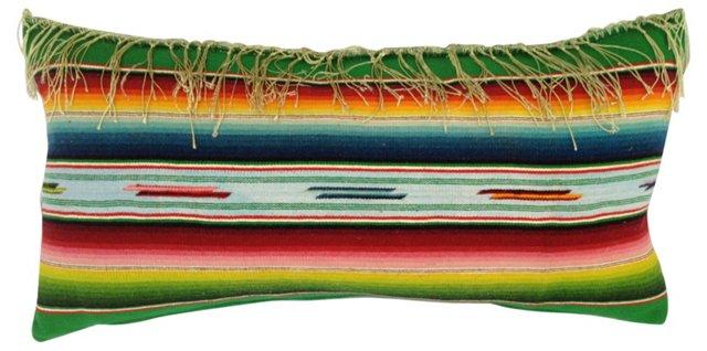 Navajo Serape Pillow w/ Fringe