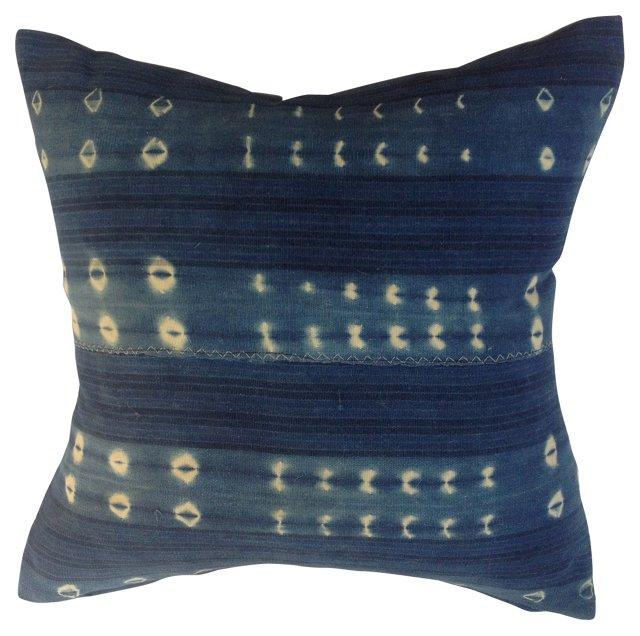 African Indigo Tribal  Pillow