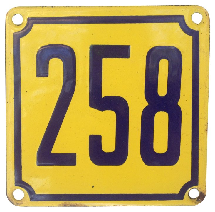 French Street Sign, 258