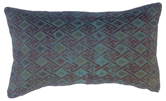 Overdyed Tribal  Quilt Pillow
