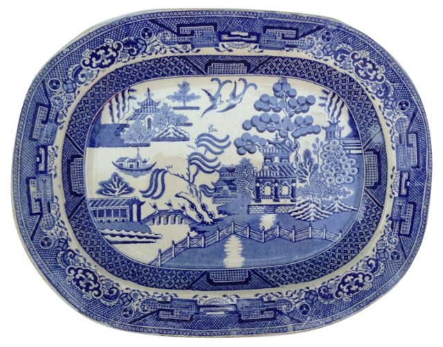 Staffordshire   Willow Wall Platter
