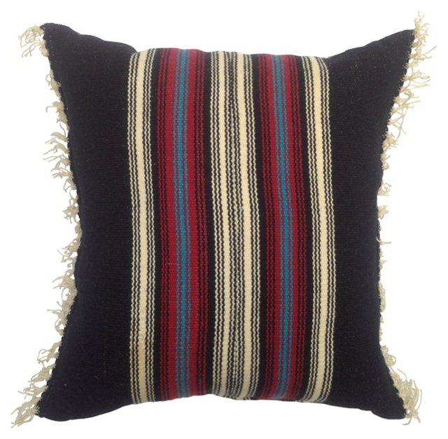 Chimayo Weaving Pillow w/ Fringe