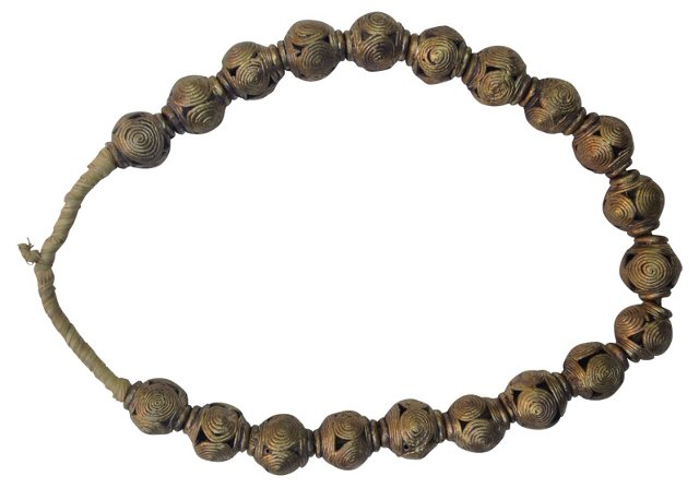 African Brass Spirit  Beads