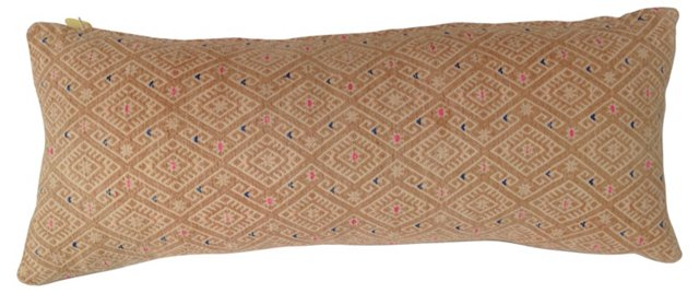 Hmong Embroidered  Lumbar  Pillow