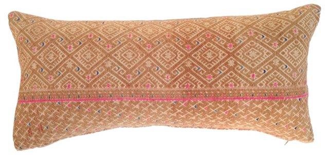 Hmong Tribal Quilt Lumbar Pillow