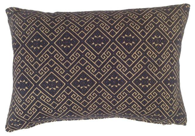 Blue &  White  Hmong  Pillow
