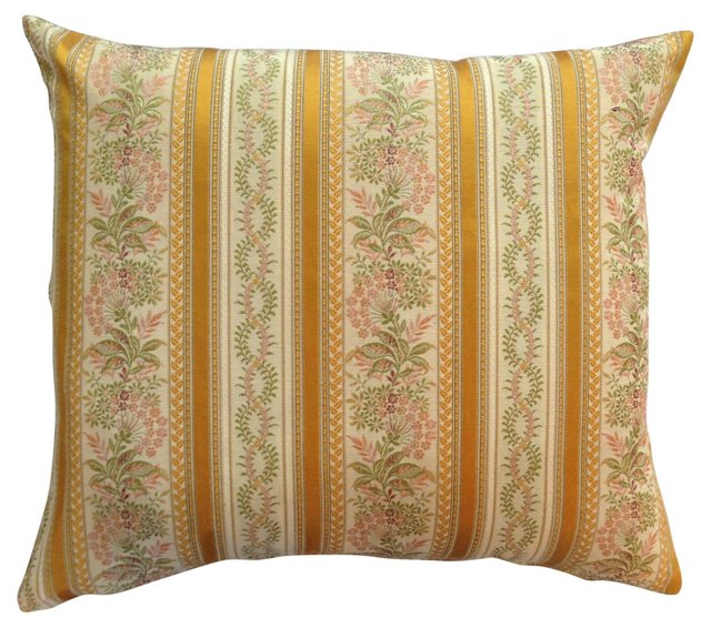 French Embroidered Scalamandré Pillow