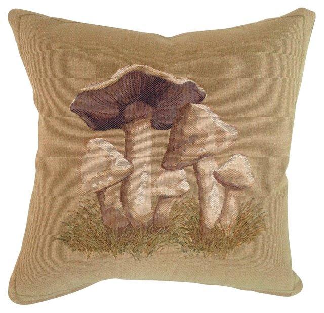 French Mushroom Tapestry  Pillow