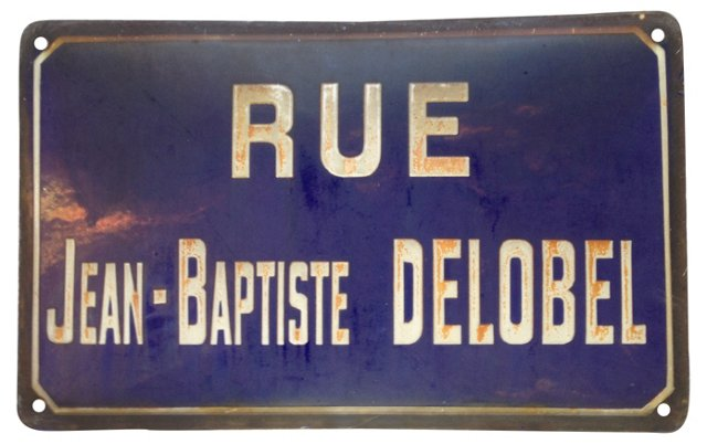 French Rue Jean-Baptiste Sign