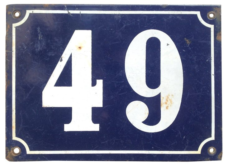 French Street Sign, 49