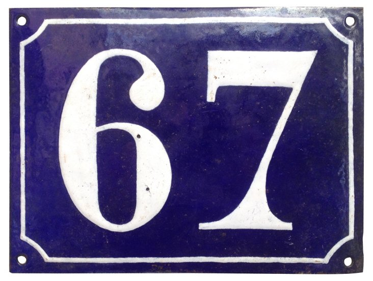 French Street Sign, 67