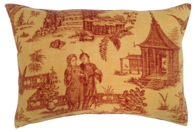 French  Chinoiserie Pillow