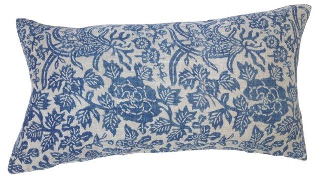 Pillow w/  1920s Batik  Linen