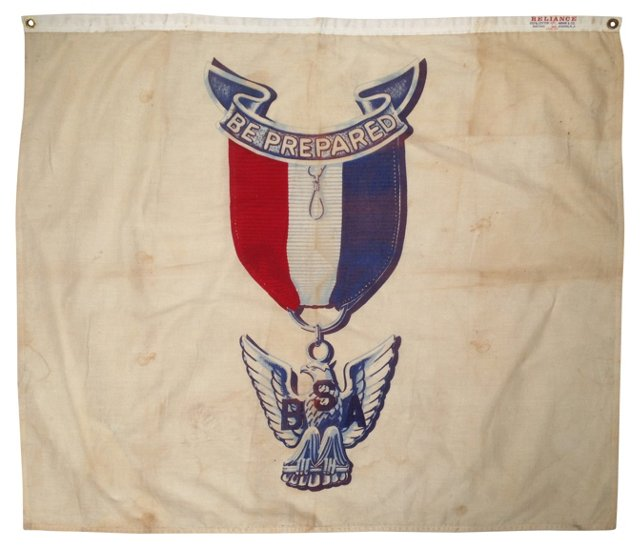 Boy Scouts Be Prepared Flag