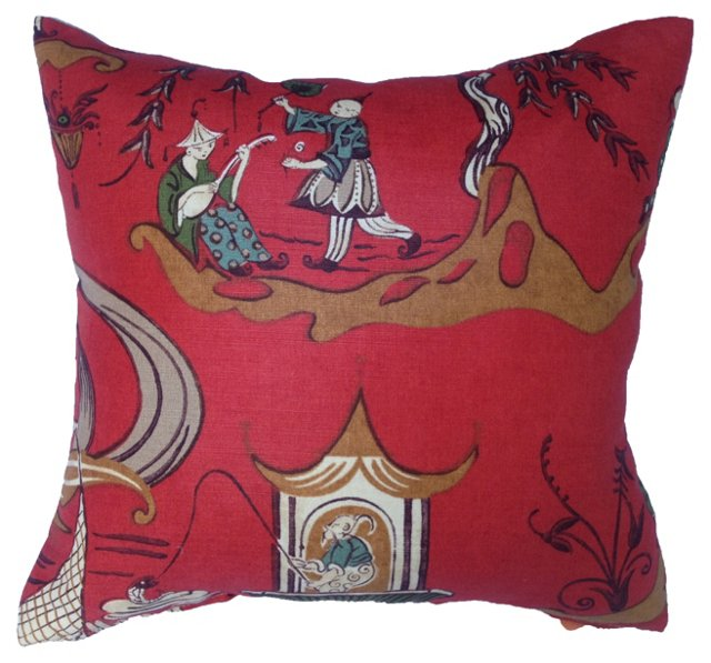 Sanderson Chinoiserie   Pillow