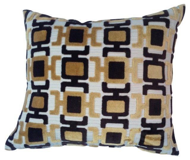Pillow w/ Abstract Velvet Textile