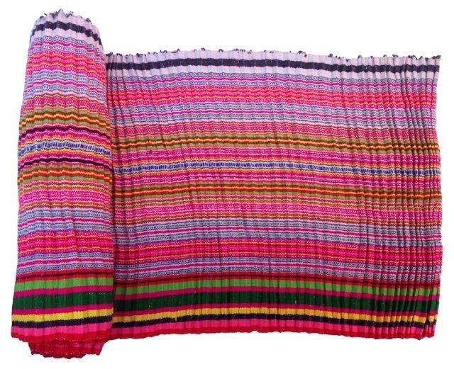 Handwoven Striped Linen,  5.6 Yds
