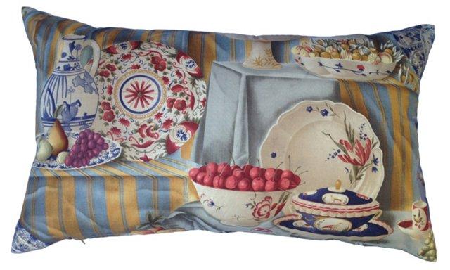 Chinoiserie Porcelain Print Pillow