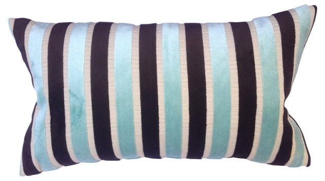 Striped Velvet Pillow