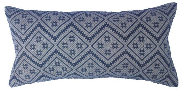 Hmong Gray Wedding  Quilt Pillow
