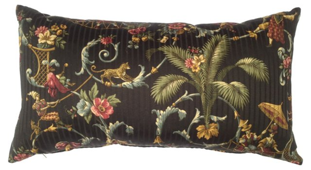 Black    Chinoiserie Pillow