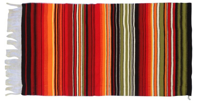 Finnish Handwoven Striped Textile