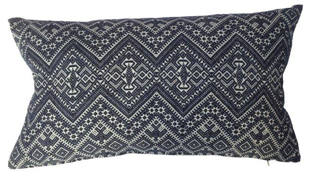 Blue  & White   Tribal  Pillow