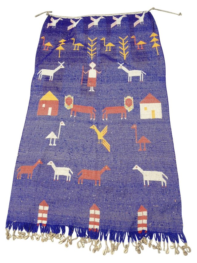 African Fulani Beaded Wall Hanging