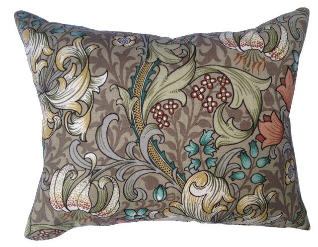 Pillow w/ William Morris Textile