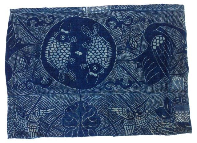 Antique Boro Batik Panel