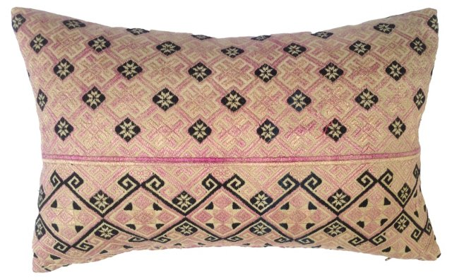 Pillow  w/ Antique  Wedding Quilt